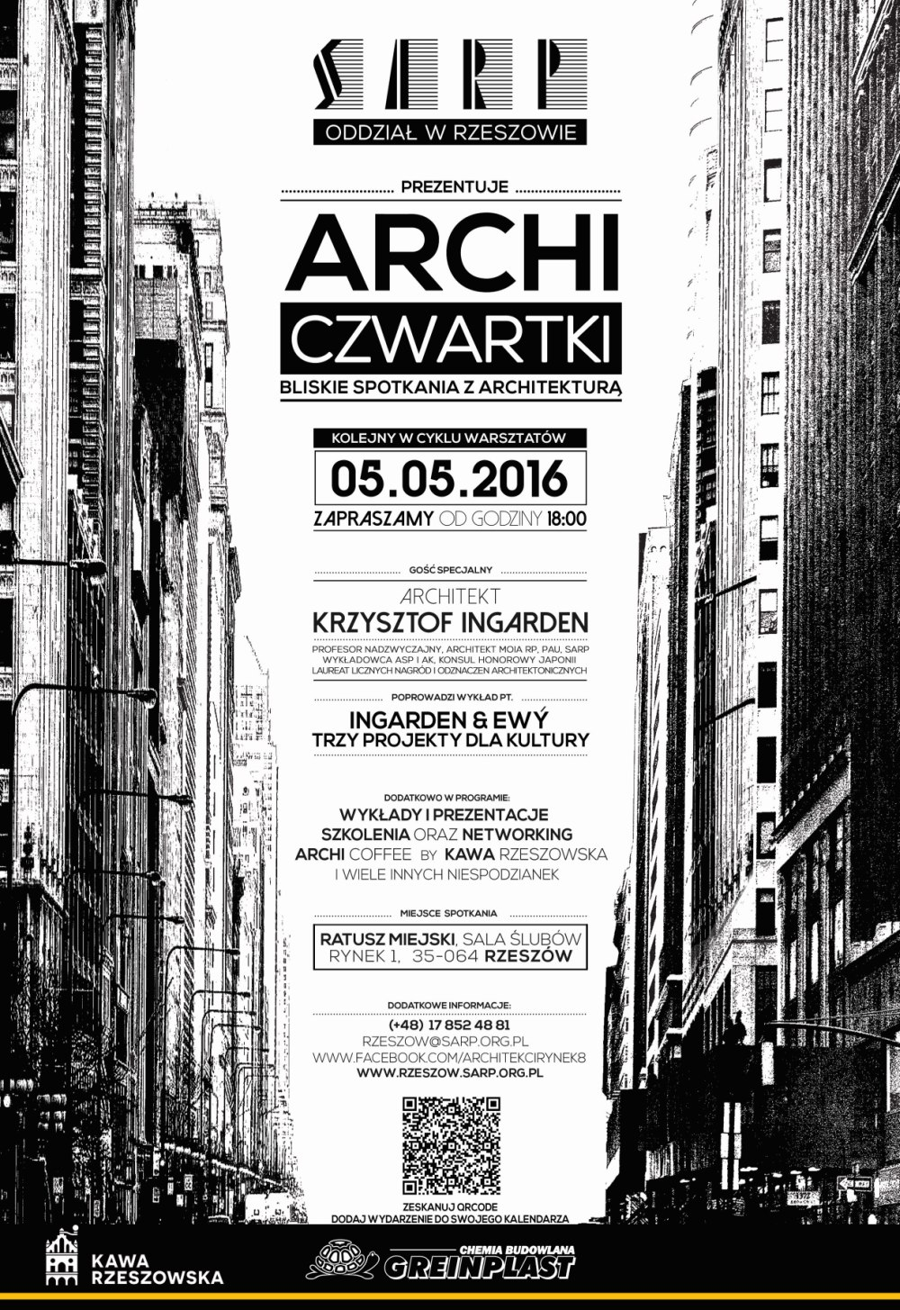 PLAKAT ARCHI CZWARTKI - 05-05-2016 Ingarden
